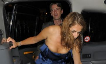 Tracey Emin upstages Sarah Harding as she leaves party