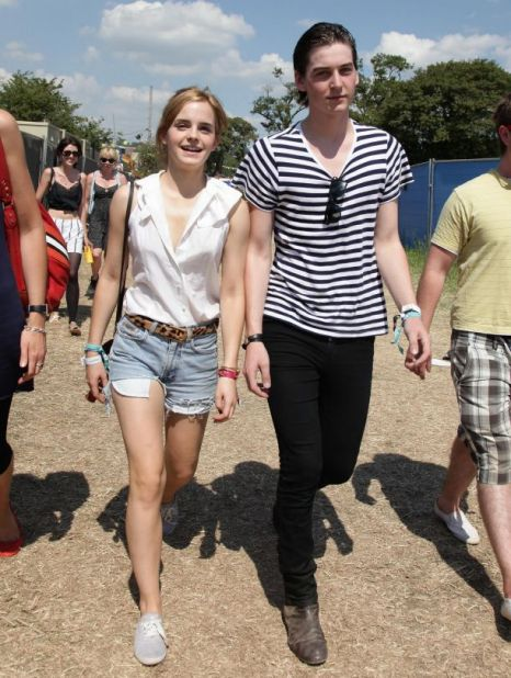Emma Watson and new boyrfriend George Craig at Glastonbury (Photo: PA)