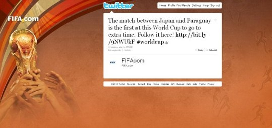 Fifa tweets Japan v Paraguay is first into extra time