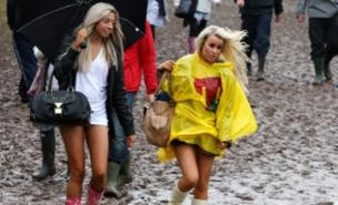 Music fans braved the mud at T in the Park (PA)