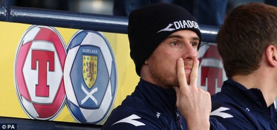 Barry Ferguson was banned for his actions under former Scotland boss George Burley