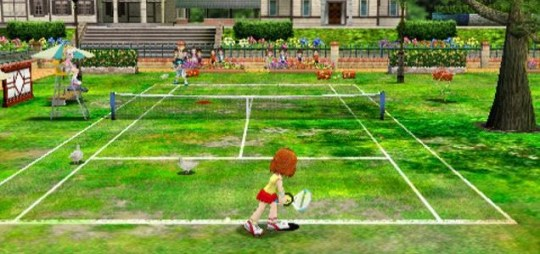 Everybody's Tennis (PSP) - Rafael Nadal never had a problem with chickens on the court