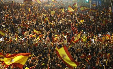 Spain fans celebrate World Cup final win in Johannesburg – and Madrid