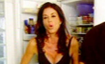 Janice Dickinson gets naked in Calum Best's kitchen in Come Dine With Me