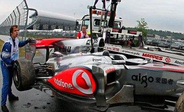 Lewis Hamilton suffers big crash in German GP practice at Hockenheim