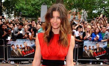 Jessica Biel reveals knickers under sheer dress at A-Team premiere