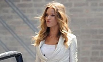 Transformers 3: Rosie Huntington-Whiteley gets dirty as she shoots new movie