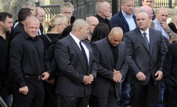 Strangers honour Raoul Moat 'the gun hero' at funeral