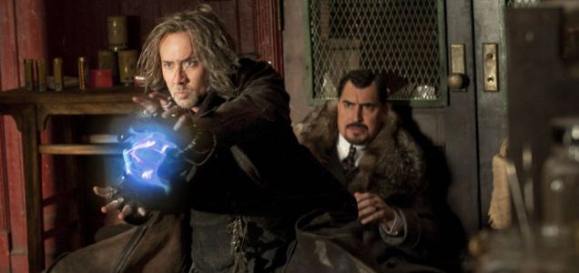 The Sorcerer's Apprentice stars Nicolas Cage and features lots of glowing things