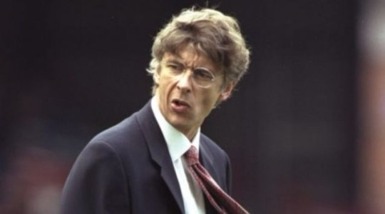 Starting off: A bespectacled Arsene Wenger looks on during the 2006 season