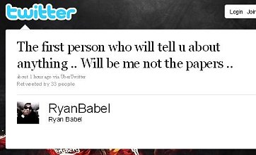 Ryan Babel 'hints at Liverpool exit on Twitter'