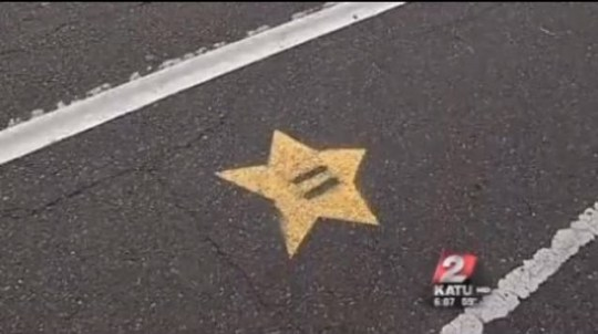 A star which gamers usually find in Nintendo's Mario Kart has been spotted in Portland, Oregon (Pic: YouTube)