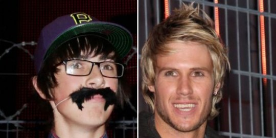 Sam Pepper and John James contest this week's Celebrity Face Off (Pic: Capital Pictures)
