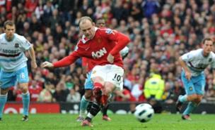 Wayne Rooney will take on Phil Jagielka in today's Everton vs Man Utd game (PA)