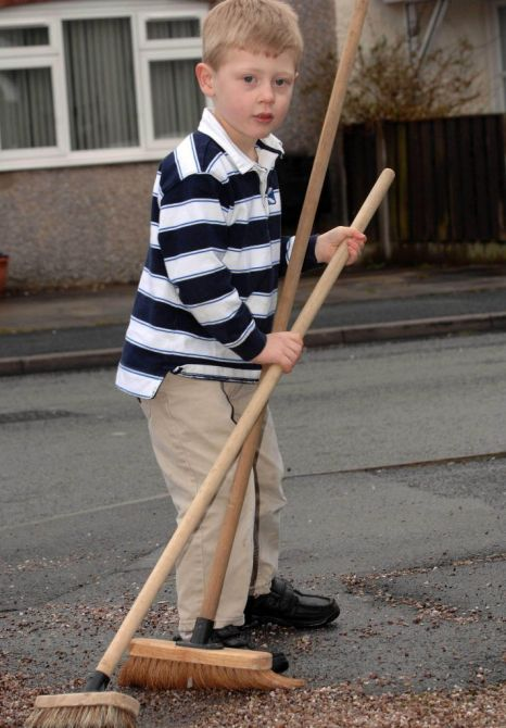 More broom: Sam Houghton's 'inspired' invention