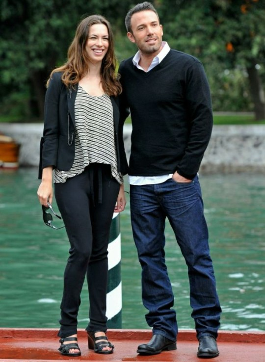Rebecca Hall and Ben Affleck strike a pose at the 67th Venice Film Festival