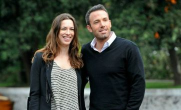 Ben Affleck joined by Rebecca Hall at Venice Film Festival