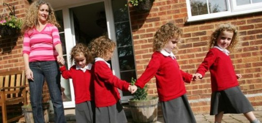 Britains Only Identical Quadruplets Go To School Metro News