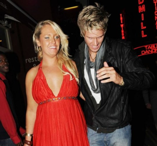 Josie Gibson and John James Parton leave the Big Brother Wrap party after making their first public appearance together last night