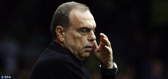 West Ham's manager Avram Grant