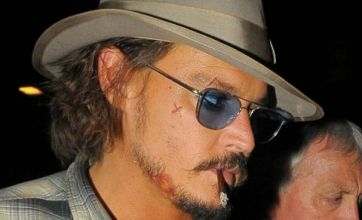 Johnny Depp sports Pirates 4 'wounds' on night out