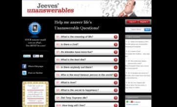 Ask Jeeves lists 10 'unanswerable' questions to mark 10th anniversary