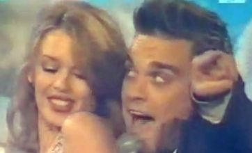 Besotted Robbie Williams 'laughed' at naked Kylie Minogue