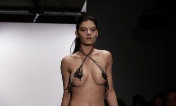 'Chastity belt' sent down the runway at London Fashion Week