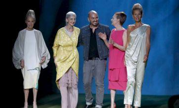 Old models hit the London catwalk