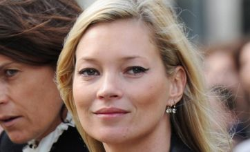 Kate Moss stands in for Jamie Hince at his debut film premiere