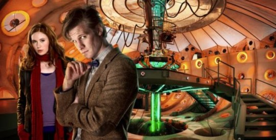 Matt Smith with Karen Gillan in Doctor Who: says that Steven Moffat's new script is 'mind-blowing'