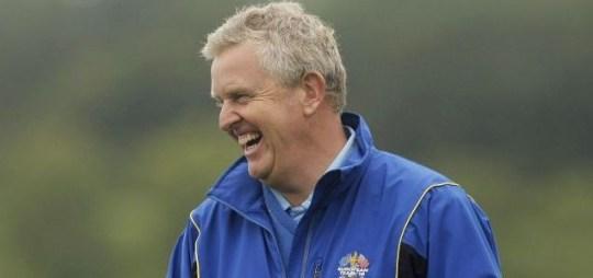 Smiles: European Ryder Cup captain Colin Montgomerie (Picture: ActionImages)