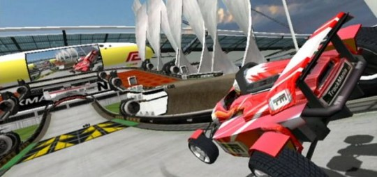 TrackMania (Wii) – not quite as realistic as F1 2010