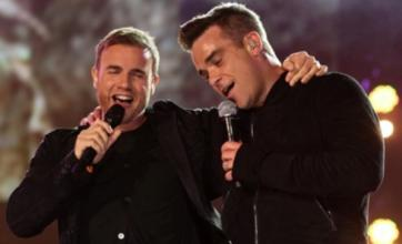 Robbie Williams and Gary Barlow perform Shame on Strictly Come Dancing