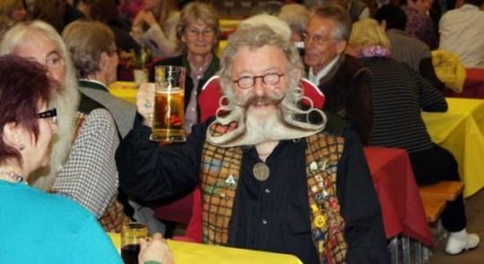 Austrian town hosts European beard contest