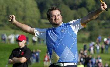 Graeme McDowell beats Hunter Mahan to reclaim Ryder Cup for Europe