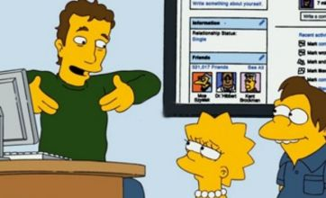 Facebook's Mark Zuckerberg stars in The Simpsons