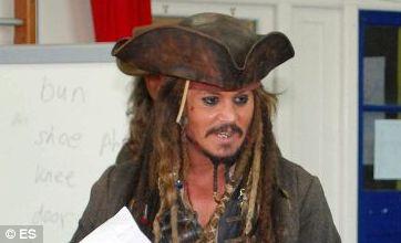 Johnny Depp surprise visit to London school