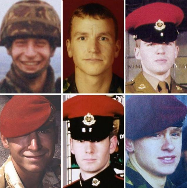 Victims: Sgt Simon Hamilton-Jewell, 41; Cpl Russell Aston, 30; Cpl Paul Long, 24; LCpl Tom Keys, 20; Cpl Simon Miller, 21; and LCpl Benjamin Hyde, 23.