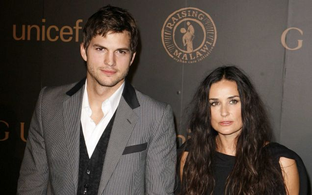 Ashton Kutcher and Demi Moore have touched down in Israel (Photo: Reuters)