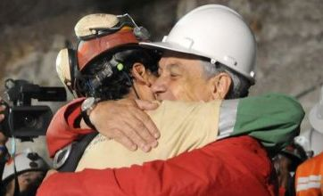 Tears of joy from wives and mistresses as Chilean miners emerge