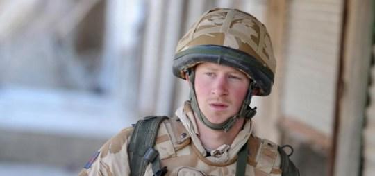 Prince Harry on patrol in Afghanistan