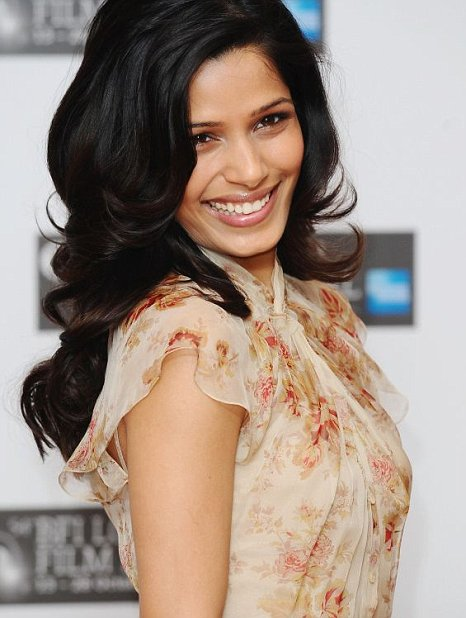 Freida Pinto attends Miral screening at BFI London Film Festival (PA)