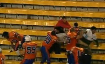 Canadian football players fight fans