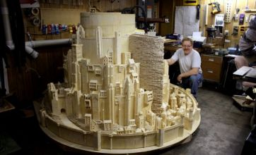 Man makes Lord of the Rings city model out of matchsticks