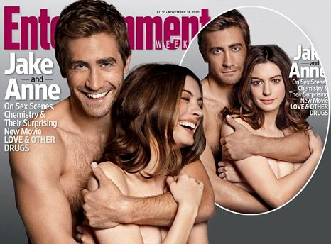 Jake Gyllenhaal And Anne Hathaway On The Cover Of Entertainment Weekly