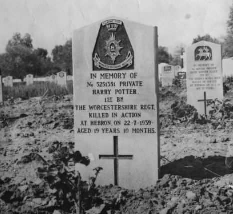 The grave of the real Harry Potter, killed in 1939 (Newsteam)
