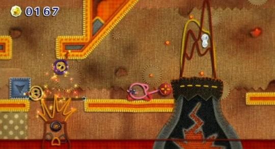 Kirby's Epic Yarn (Wii) – a cross stitch