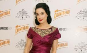 CSI producers asked Dita Von Teese to cover up her famous cleavage on the show (PA)
