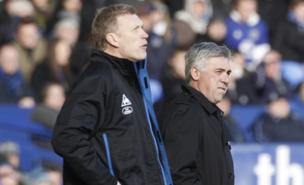 Carlo Ancelotti and David Moyes witnessed a 1-1 draw (PA)